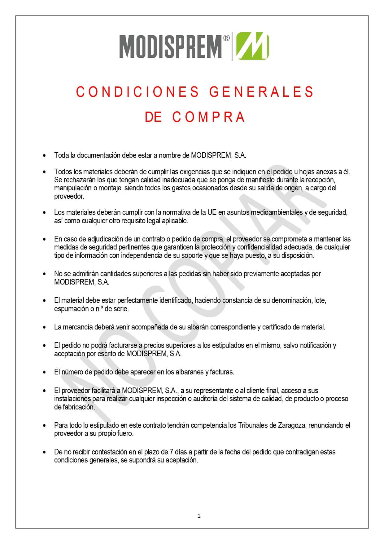 Condiciones Generales Compra page 0001