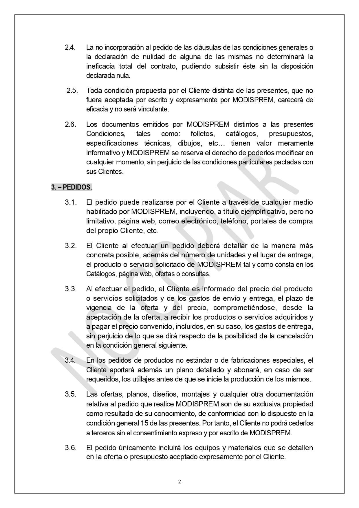 Condiciones Generales Venta page 0002