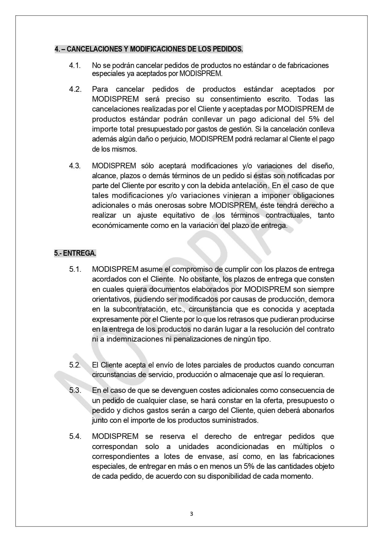 Condiciones Generales Venta page 0003