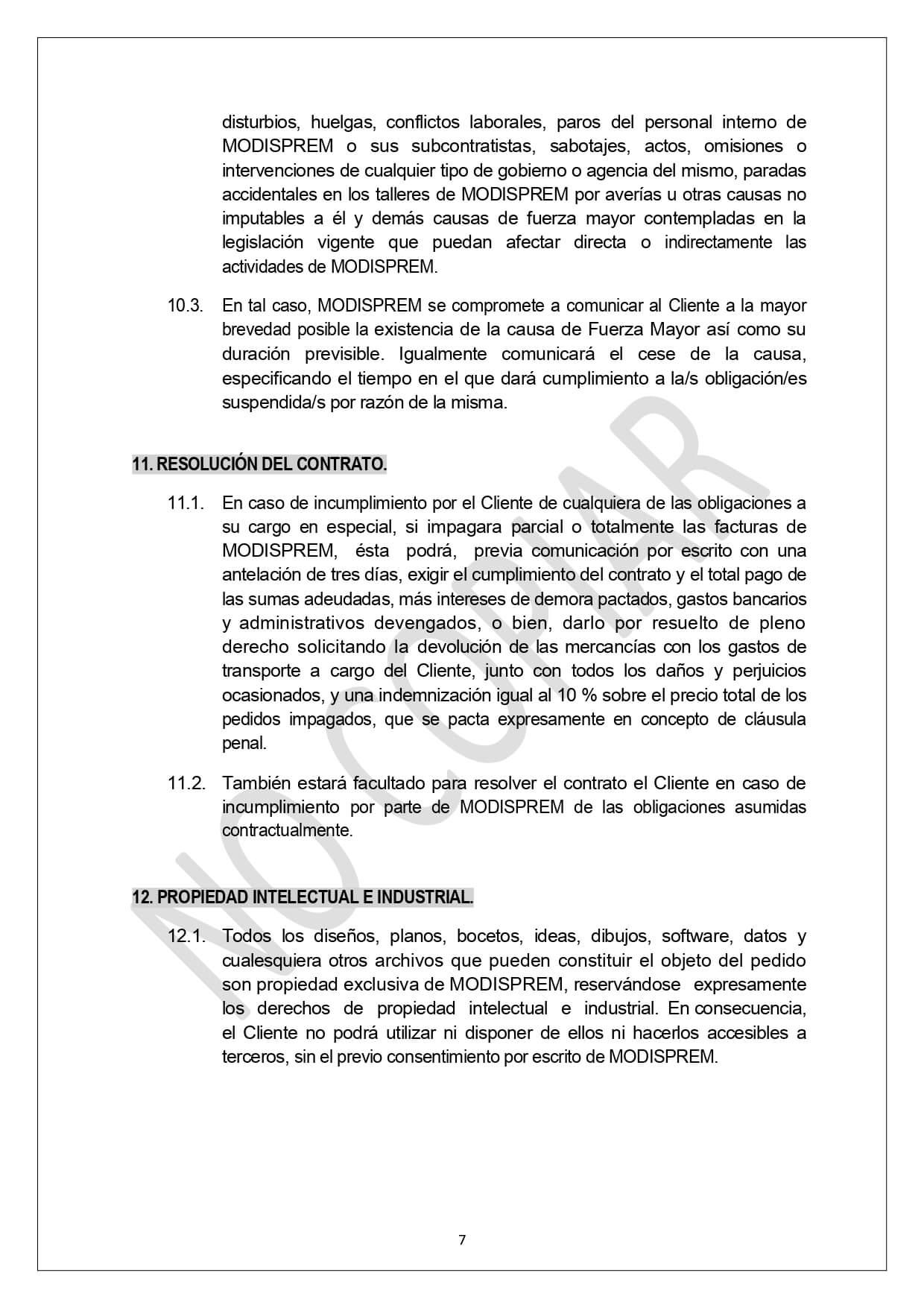 Condiciones Generales Venta page 0007