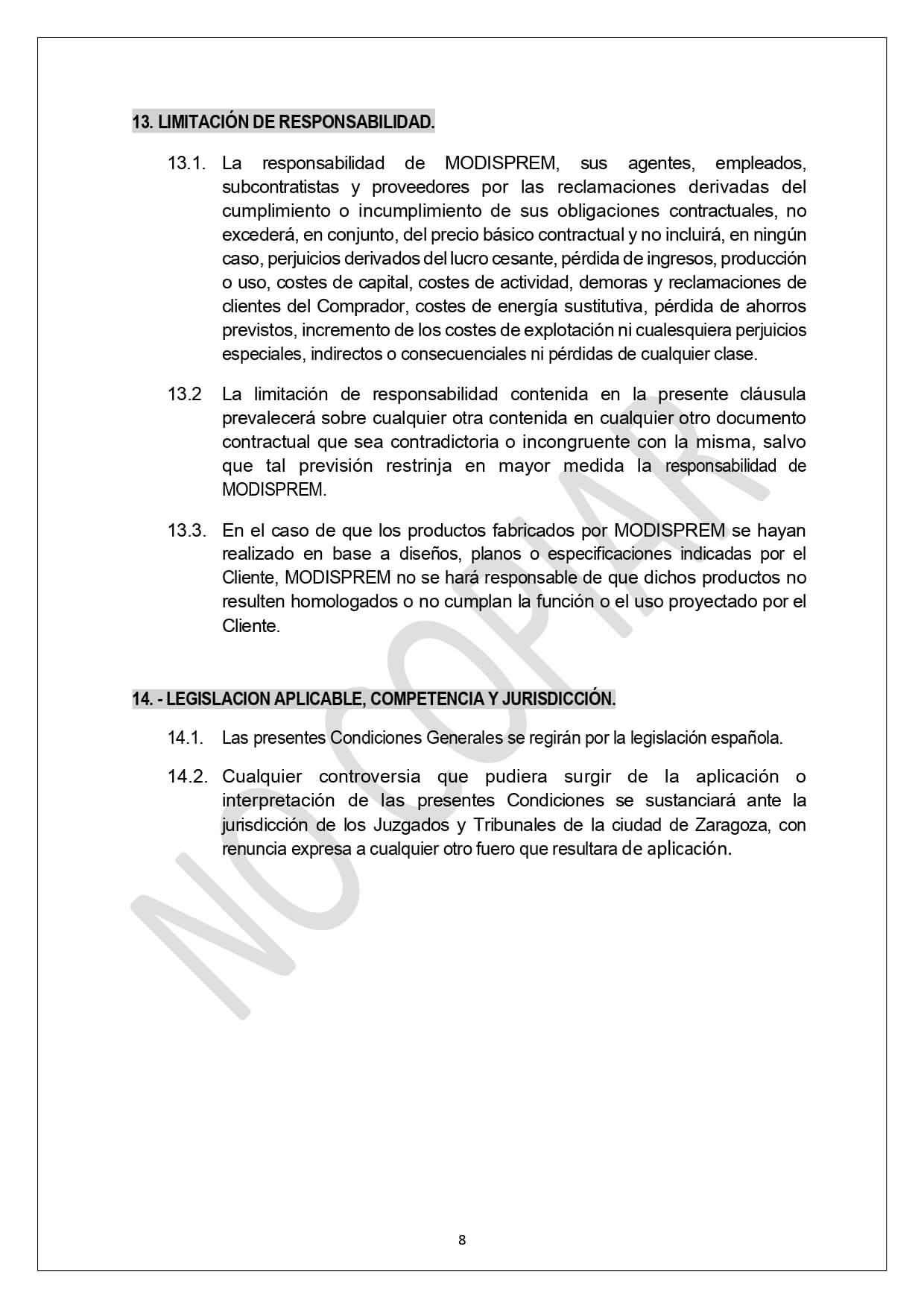 Condiciones Generales Venta page 0008