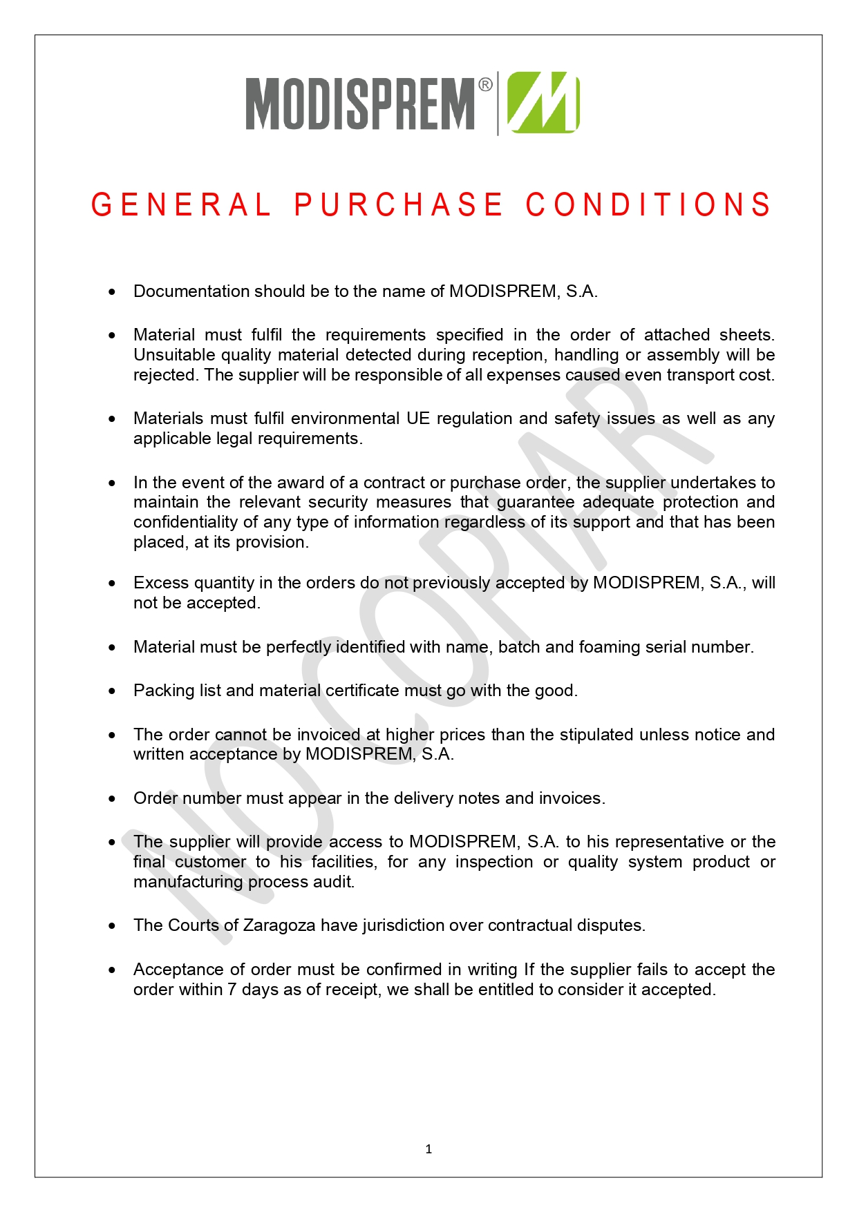 General Purchase Conditions 3